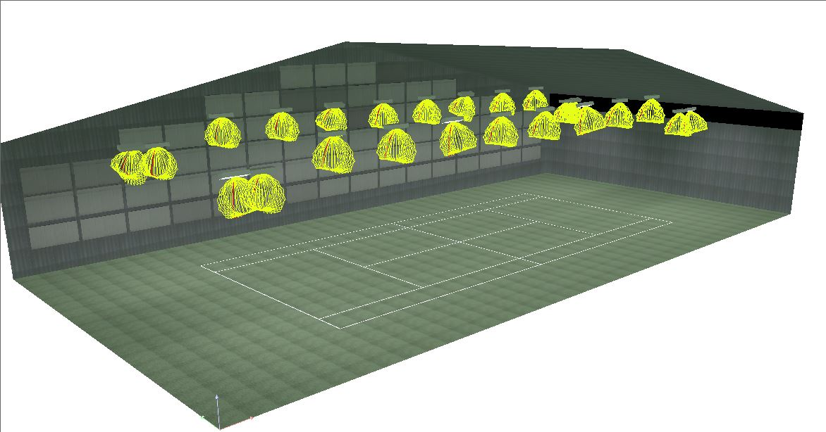 Eclairage led terrain de tennis for Eclairage court de tennis exterieur